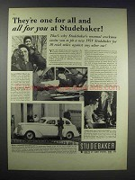 1938 Studebaker Commander Ad - They're One for All