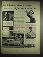 1938 Studebaker Cars Ad - Stands Alone Craftsmanship