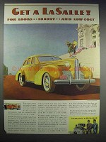1938 Cadillac LaSalle 4-Door Touring Sedan Ad