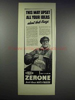 1938 Du Pont Zerone Anti-Freeze Ad - May Upset Ideas