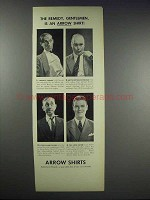 1938 Arrow Shirts Ad - The Remedy, Gentlemen