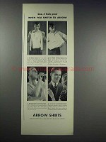 1938 Arrow Shirts Ad - Gee, it Feels Great