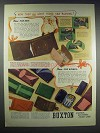 1938 Buxton 3-Way Billfold, Lady Buxton Key-Tainers Ad