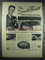 1938 Amity Director Billfold Ad - Secret Pocket