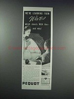 1938 Pequot Sheets Ad - We're Learning From Wives