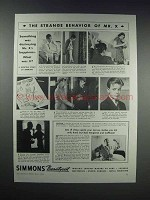 1938 Simmons Beautyrest Mattress Ad - Strange Behavior