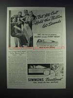 1938 Simmons Beautyrest Mattress Ad