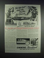 1938 Simmons Beautyrest Mattress Advertisement - Hold Position