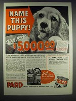 1938 Pard Dog Food Ad - Name This Puppy!