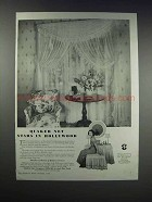 1938 Quaker Net Fantasy Net Curtains Ad - Gail Patrick