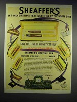 1938 Sheaffer's Lifetime Pens and Fineline Pencils Ad