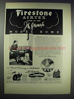1938 Firestone Airtex Ad - John Wanamaker Model Home