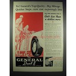 1938 General Dual 8 Tires Ad - Big Mileage