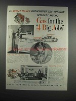 1938 American Gas Association Ad - In Model Homes