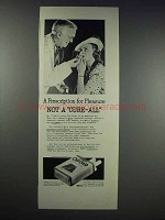 1938 Old Gold Cigarettes Ad - Prescription for Pleasure