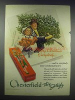 1938 Chesterfield Cigarettes Ad - Merry Christmas