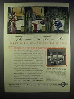1938 Pullman Car Ad - The Man in Lower 10