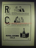 1938 RC Royal Crown Cola Ad - R Stands for Royal