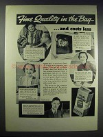 1937 Chase and Sanborn Coffee Ad - Quality in the Bag