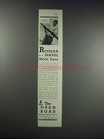 1932 The Open Road Ad - Russian Travel Made Easy