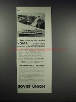 1932 Intourist Inc. Ad - Mighty Volga Soviet Union
