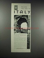 1932 Italian Tourist Information Office Ad - Follow Sun
