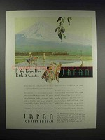1932 Japan Tourist Bureau Ad - Knew How Little it Costs