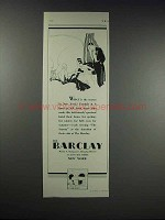 1932 The Barclay Hotel Ad - What is The Season