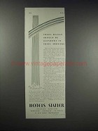 1931 Hotels Statler Ad - Rainbows in Showers