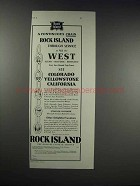 1931 Rock Island Railroad Ad - Continuous Chain
