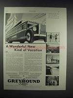 1931 Greyhound Lines Ad - A Wonderful Vacation