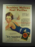 1931 Lucky Strike Cigarettes Ad - Sunshine Mellows