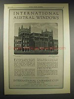 1929 International Windows Ad - Evanston High School