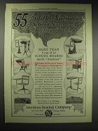 1929 American Seating Company Ad - 55% of the Nation's