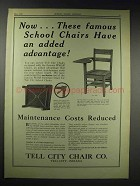 1929 Tell City Chair Co. Tablet Arm-Chair No. 1634 Ad