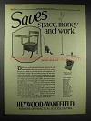 1929 Heywood-Wakefield Movable Chair Desk Ad - Space