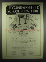 1929 Heywood-Wakefield School Furniture Ad - Efficiency