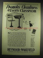 1929 Heywood-Wakefield Sanitary Pedestal Desk Set Ad