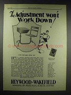 1929 Hewyood-Wakefield Unit Movable Desk Set Ad