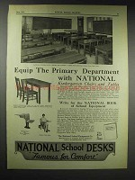 1929 National School Equipment Ad - Kindegarten Chairs