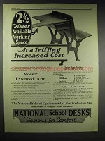 1929 National School Equipment School Desk Ad