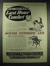 1929 National No. 101 Combination Desk Ad - Moeser Arm