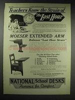 1929 National School Equipment Ad - 181 Pedestal Desk