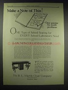 1929 B.L. Marble Law Non-Colliding Chair Ad