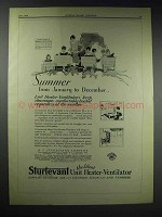 1929 Sturtevant Unit Heater-Ventilator Ad - Summer