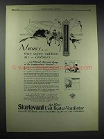 1929 Sturtevant Unit Heater-Ventilator Ad - Enjoy Air