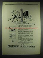 1929 Sturtevant Unit Heater-Ventilator Ad - Thermometer