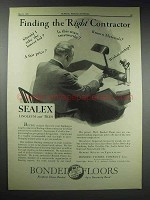 1929 Congoleum-Nairn Floors Sealex Linoleum & Tiles Ad