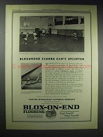 1929 Carter Bloxoned Floor Ad - Roosevelt High, Yonkers
