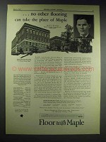 1929 Maple Flooring Ad - Francis Joseph Reitz High